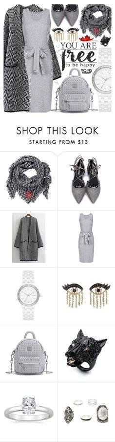 """Yoins/ Grey look"" by pastelneon ❤ liked on Polyvore featuring DKNY, Sydney Evan, Alexis Bittar, yoins, yoinscollection and loveyoins"
