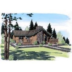 AmazingPlans.com House Plan #24311 - Country, Ranch, Vacation
