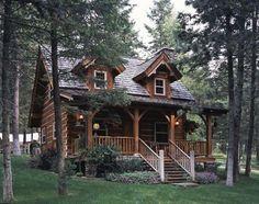 Jack Hanna's tiny and oh so cute Montana log cabin