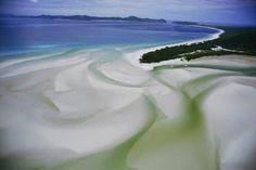 Una delle spiagge del Parco Nazionale delle Isole Whitsunday, in Australia.