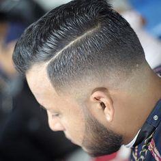 cortes de cabello para hombre con lineas modernos