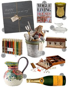Housewarming gift ideas!!! Great for anybody who's got a new place. Helping is always good, too, lol.