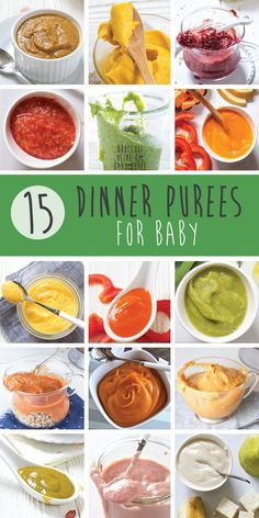 15 Dinner Ideas for Baby (Stage 2 Purees) – Baby Foode – Homemade Baby Food Recipes – Cereal, Fruits & Veggies Baby Food Recipes 9 12, Healthy Baby Food, Baby Puree Recipes, Pureed Food Recipes, Gourmet Recipes, Food Baby, Baby Bullet Recipes, Baby Weaning Recipes Puree, Meat Recipes
