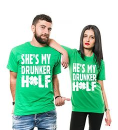 3dc51f14b St Patricks Tshirts Couple Matching T-Shirts St Patricks Day Funny T-shirts  - Best Seller List