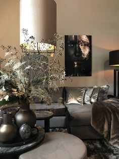 Living Room Decor, Living Spaces, Dark Interiors, Family Room Design, Luxury Living, Home Fashion, Interior Inspiration, Home Furnishings, Interior Design