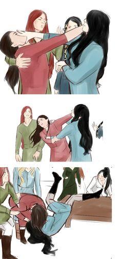 A quarrel of Fëanor and Fingolfin