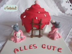 Riesencupcake Torte mit Mäusen; gianz cupcake