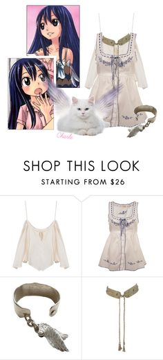 """""""Fairy Tail: Wendy Marvell"""" by redxylophone15 ❤ liked on Polyvore featuring Miss Selfridge and Michele Lerner"""
