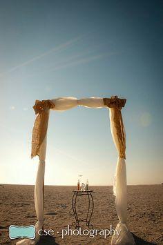 Burlap wedding arch  #ceremony #bride #wedding #beach wedding