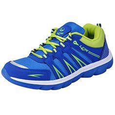 Lancer Men's Blue Green Mesh Sports Running Shoes 8 UK La…