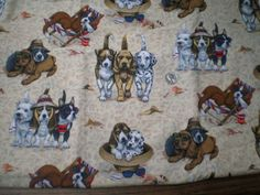 Cute-Dogs-At-The-Beach-Cotton-Fabric