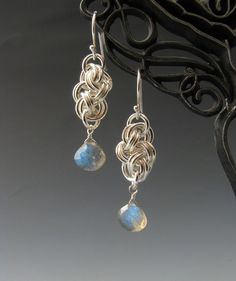 Cloud Cover Chainmaille Earrings with by WolfstoneJewelry on Etsy, $32.00
