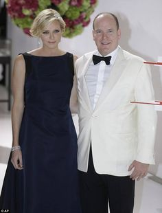 Prince Albert and Princess Charlene attended the 66th Monaco Red Cross Ball Gala at Sporting Monte-Carlo in Monaco.
