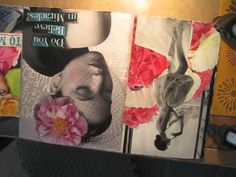 Working in my Collage Journal -part 3 - YouTube