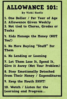 I like this allowance chart because it does not involve chores. Family chores should be required, then some jobs could pay as a way to make extra money. Parenting Advice, Kids And Parenting, Peaceful Parenting, Gentle Parenting, Parenting Quotes, Parenting Websites, Foster Parenting, Teaching Kids, Kids Learning