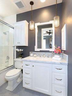 Come arredare il bagno con il grigio - Bagno grigio classico
