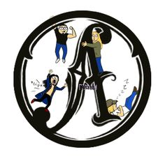 'A' logo... Sarah style. by xHideFromTheSunx.deviantart.com on @deviantART So funny!  I love how Perttu is tripping, 'cause that's how he is.