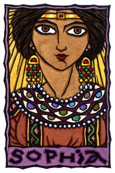 Sophia, Greek Goddess of Divine Wisdom and Gnostic Great Mother