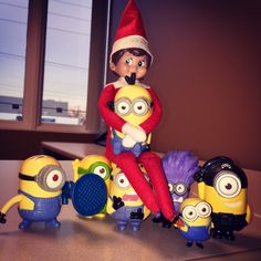 This is quite the alliance @minionnation @elfontheshelf...here comes trouble. #minions #elfontheshelf #eots #clixfuel