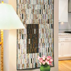 Pattern saved in file..prettier than this photo shows Secret Passage: Easy Modern Batik Wall Quilt Pattern
