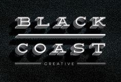 New logo for Black Coast Creative. Logo Branding, Logos, Black Sand, Coast, Behance, Graphic Design, Creative, Behavior, A Logo