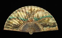 Fan  Carl Gustav Klingstedt  (Swedish, 1657–1734)  Date: 1715–25 Culture: Dutch Medium: ivory, mother-of-pearl, parchment, gouache, paint http://www.metmuseum.org/collections/search-the-collections/80094664