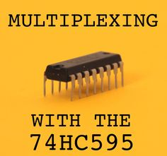 The 74HC595 is an easy and inexpensive (at about 60 cents apiece) way to increase the number of digital out pins on your Arduino.  In this tutorial I'll show you how to drive up to 16 LEDs with one 74HC595 using a technique called multiplexing.  In the end, all 16 LEDs will require only three of the Arduino's available digital pins. The finished product will look like this: I used the sparkfun button pad pcb to build my 4x4 led matrix because this is the first step i...