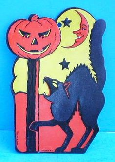 Wow. I remember having this as a Halloween decoration when I was a kid! My mom had about seven of them and would hang them in the front windows of our house. Spoooky!