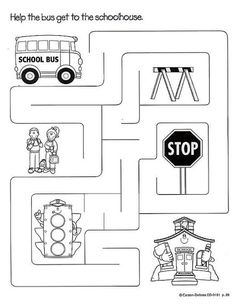 Transportation Worksheets For Preschool Preschool Worksheets, Kindergarten Activities, Educational Activities, Transportation Theme Preschool, Transportation Worksheet, Atelier Theme, School Bus Safety, Creative Curriculum, English Activities