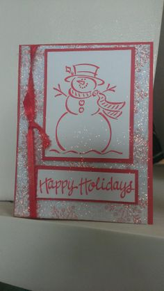 Snowman Card Handmade Greeting Cards SET of by jennrainescreations, $16.00