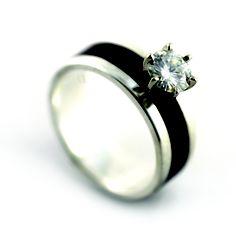 Wood diamond ring