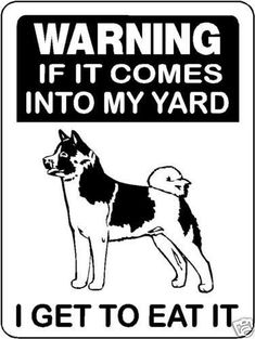 AKITA GUARD DOG Aluminum Sign Dog Cat Decal V3053 American Akita, Akita Dog, Dog