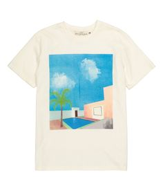T-shirt in cotton jersey with a printed design at front. | H&M For Men