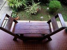 Pallets chair and bench | 1001 Pallets