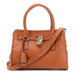Michael Kors Braided Small Brown Totes