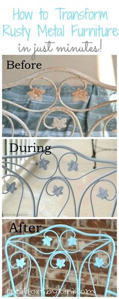 How To Transform Rusty Metal Furniture in just minutes!