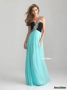 Sheath One-Shoulder Chiffon and Sequins Long Prom Dress - Prom Dresses - Special Occasion Dresses