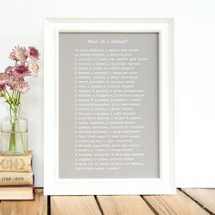'what is a sister?' poem print by bespoke verse | notonthehighstreet.com