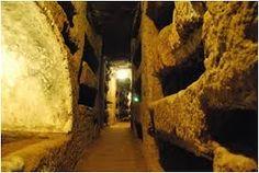 Catacumbas de são calixto em Roma