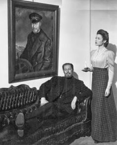 Rex Harrison and Gene Tierney in The Ghost and Mrs. Muir ( 1947 )