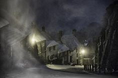 Storm Emma creates picture perfect momenton 'Hovis Hill' street | Daily Mail Online