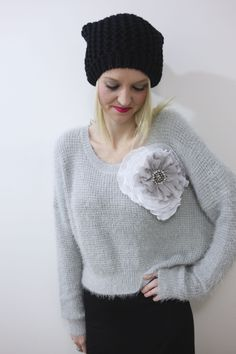 Our Grey stormy shadows knit