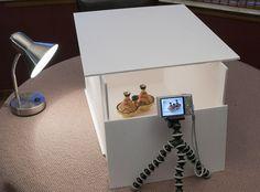 Make a DIY light box on the cheap