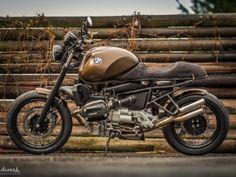 Oleck Custom Motorbike Archive | BMW R850R - Brown Lucy Bmw R850r, Bike Bmw, Moto Bike, Bmw Motorbikes, Bmw Motorcycles, Bmw Cafe Racer, Cafe Racer Motorcycle, Cafe Racers, Custom Bmw