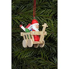 Tree ornament Santa in Car - 5,4 x 4,7cm / 2.1 x 1.7inch
