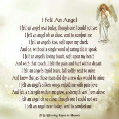 I felt an angel, it was you. xox