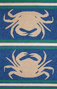 Delectably-Yours.com Panama Jack Taupe Blue Crab Shack Signature Rug by United Weavers