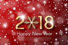 Vector New Year 2018 concept by PhotoVector on @Graphicsauthor