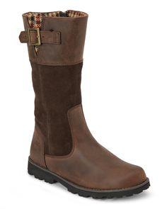 Timberland (Kids Girls) Brown Asphalt Trail Maplebrook Tall Boots