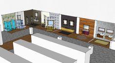 Creación de una exposición de mobiliario y accesorios de baño. #baño #diseño #sketchup